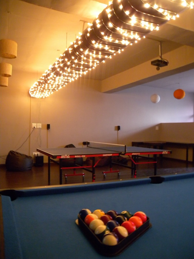 Pool Table and Entertainment Area at Cueblocks
