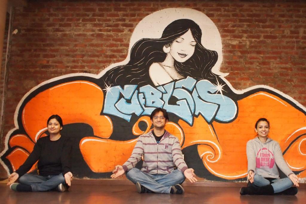 Cueblocks Team Meditating