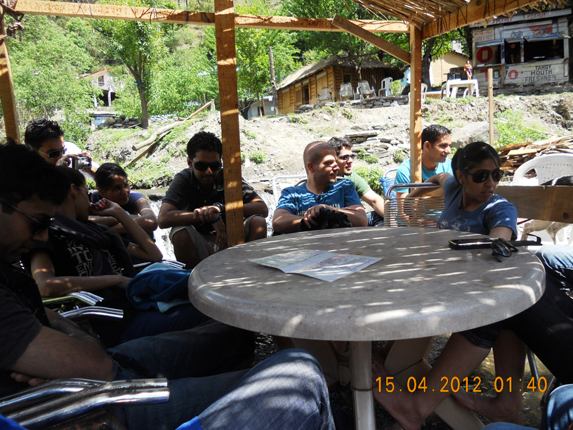 Cueblocks Team having lunch at Dharampur