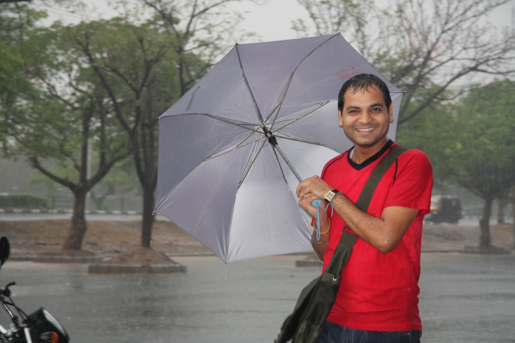 Vikal with Umbrella at Cueblocks