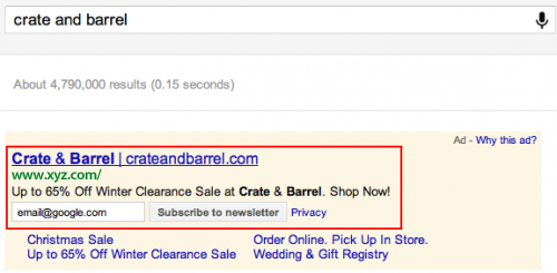 Communication Ad Extensions - Newsletters Version - AdWords Beta