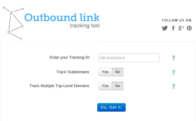 Automatic Outbound Link Tracking Tool