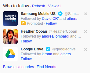 Twitter Promoted Accounts