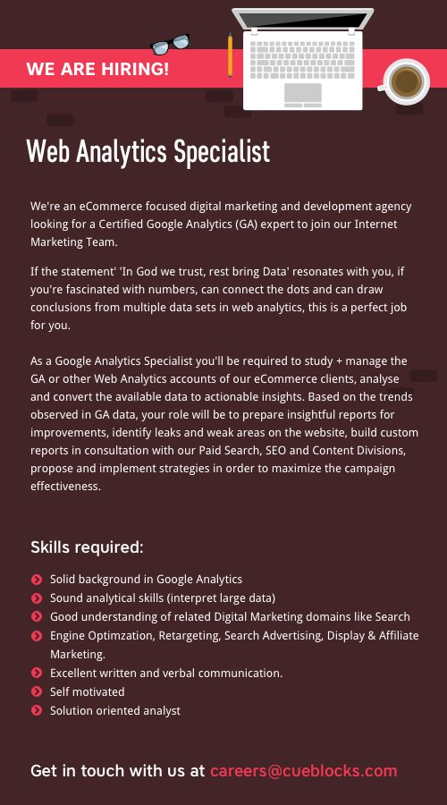 Web Analytics Specialist