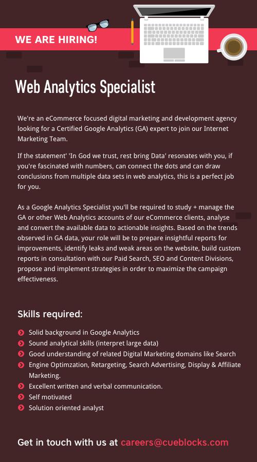 Web Analytics Specialist