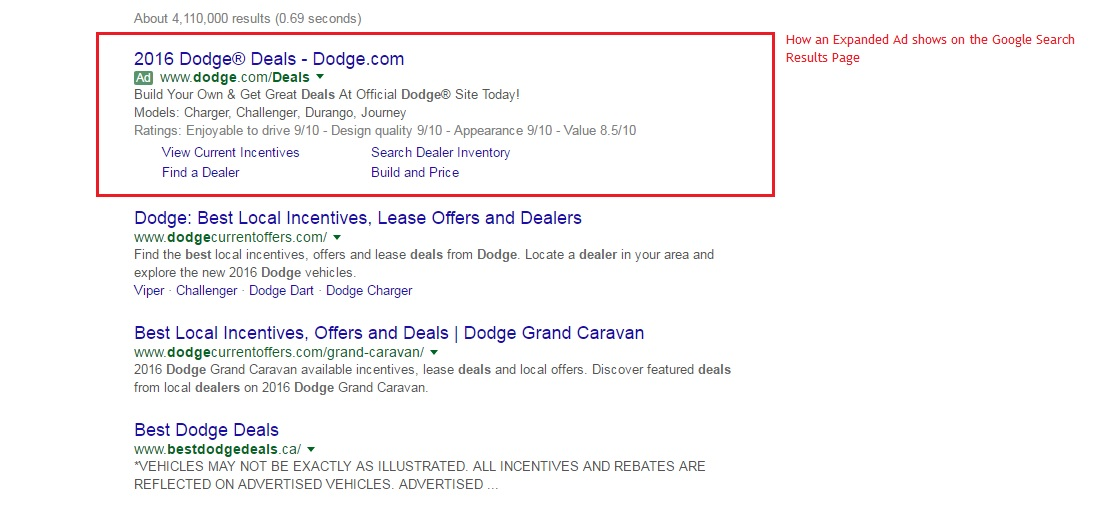 Expanded Ad Preview on Google SERP