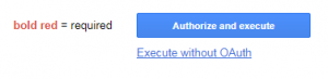 Authorize Button