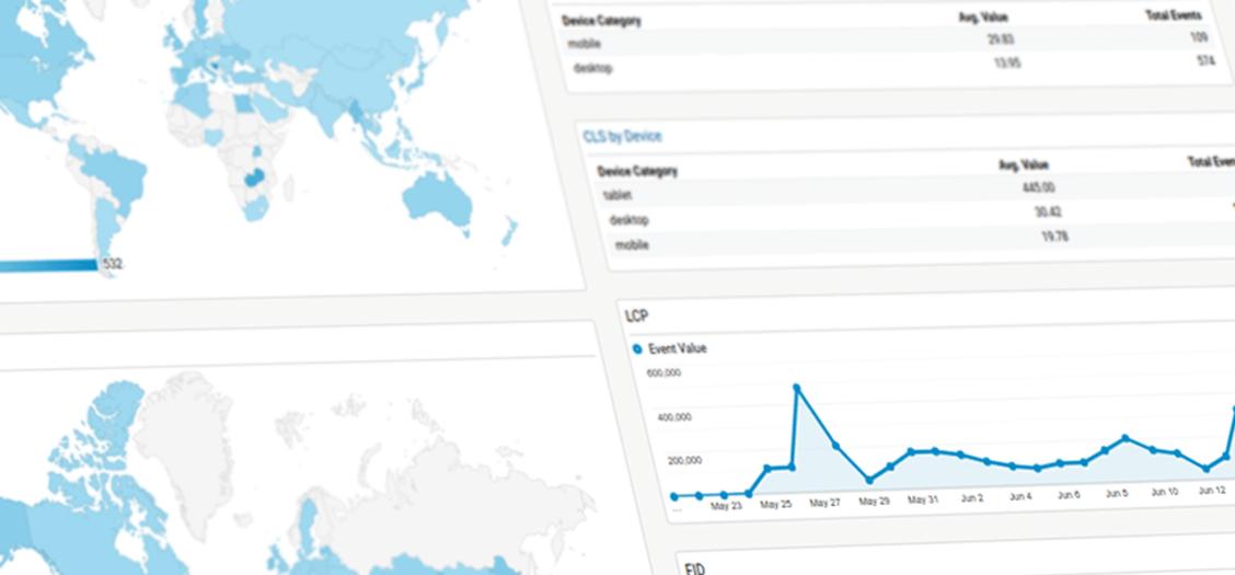 Measuring web vitals in Google Analytics